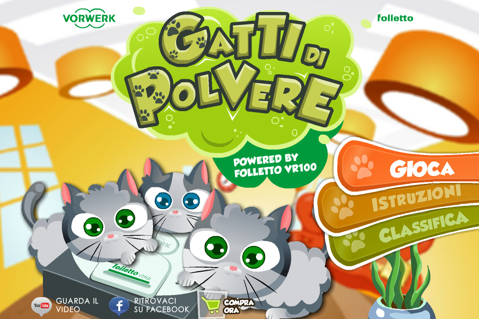 Screenshot Gatti di Polvere by Folletto VR100