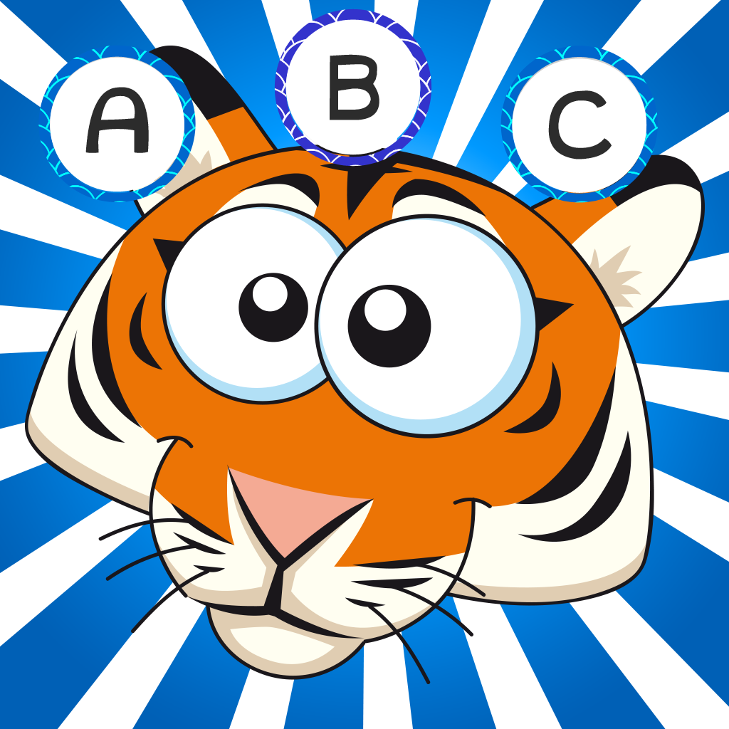 ABC savannah learning games for children: Word spelling with safari animals for kindergarten and pre-school